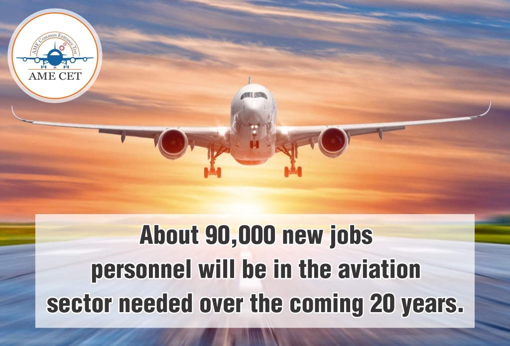 About 90,000 new jobs personnel will be in the aviation sector needed over the coming 20 years