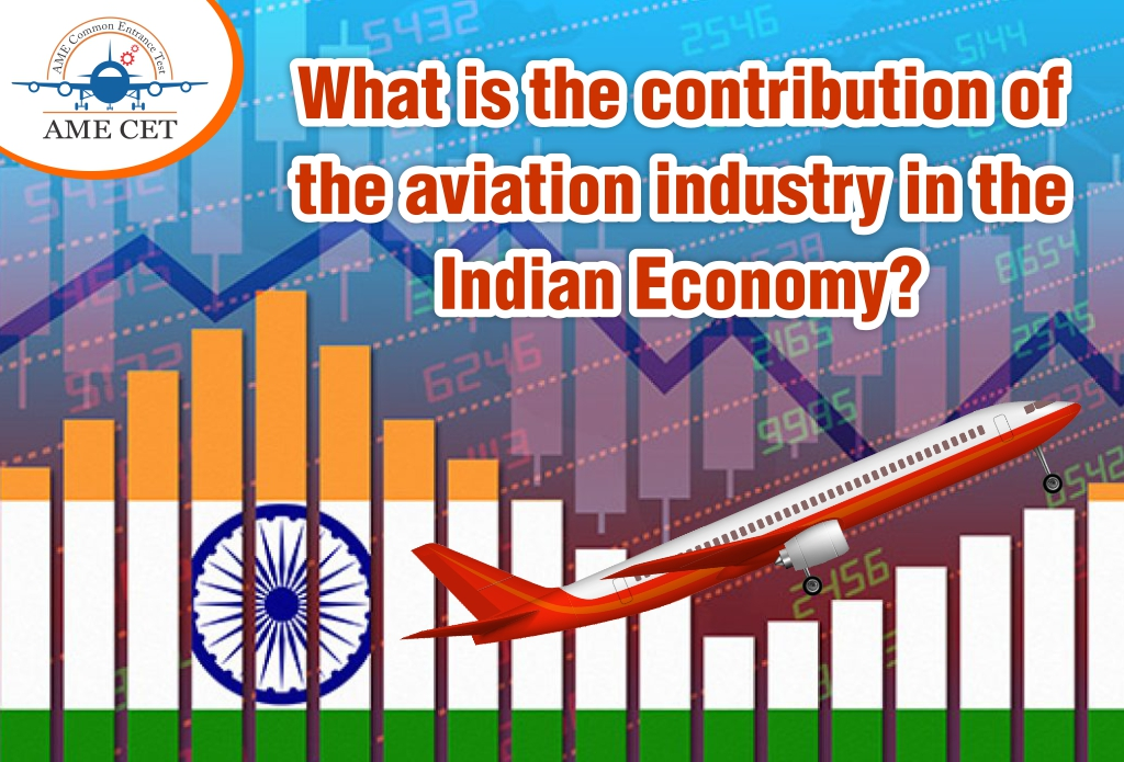 What is the contribution of the aviation industry to the Indian Economy