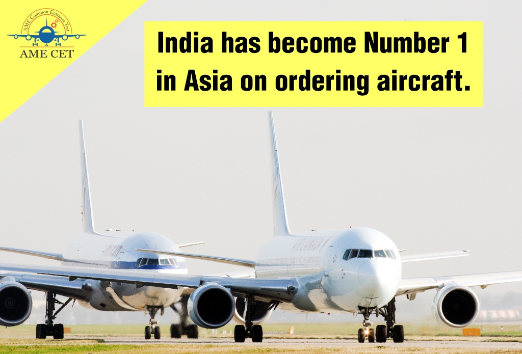 India has become Number 1 in Asia on ordering aircraft