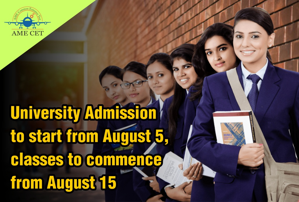 University Admission to start from August 5, classes to commence from August 15